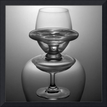 Black and white two glass stack
