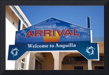 Arrival sign.