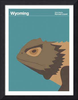State Posters - Wyoming State Reptile: Horned Liza