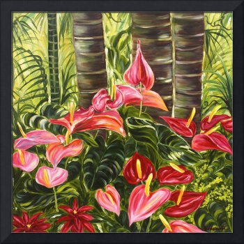 Anthurium Celebration Hawaiian Flower Art