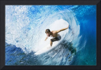 Hawaii, Maui, Professional Surfer Surfing The Barr