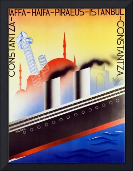 Poster advertising the Polish Palestine Line