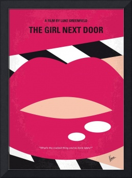 No670 My The Girl Next Door minimal movie poster