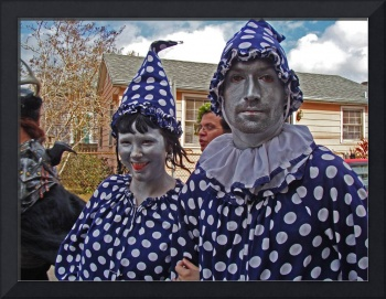 Silver Clown People, Mardi Gras Day, New Orleans