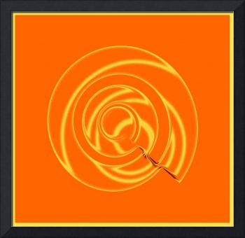 Orange Metal Swirl