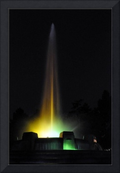 Mulholland Fountain at Night