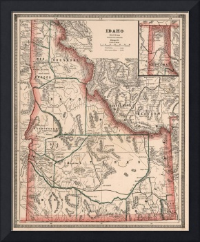 Vintage Map of Idaho (1883)