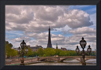 river view of eiffel