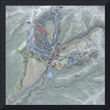 Stowe Mountain Resort Trail Map