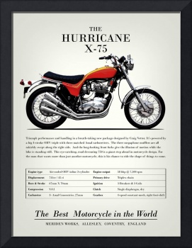 The Hurricane X-75 Vintage Advert 1973
