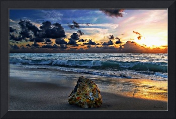 Sunrise Seascape Wisdom Beach Florida C3