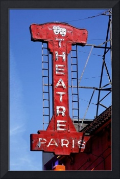 Neon Sign Paris Theatre
