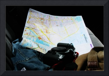 Map and Camera in hand