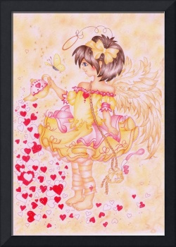 Tea Time Angel Art