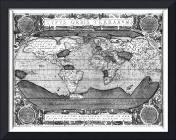 Black and White World Map (1608)
