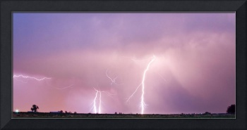 Thunderstorm on the Plains Panorama