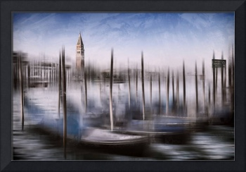 Digital-Art VENICE Grand Canal and St Mark's Campa