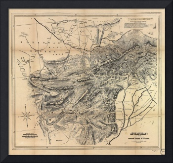 Map of Afghanistan (1879)