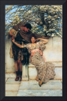 promise-of-spring by Lawrence Alma-Tadema
