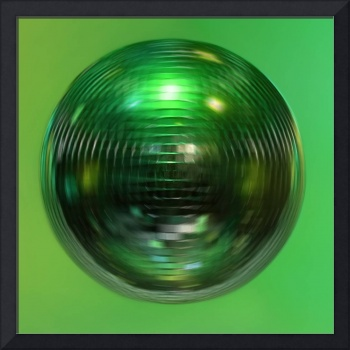 Mirror ball, spin, green