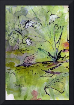 Modern Floral Lily of the Valley Watercolor