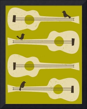 Birds on a Guitar - Green