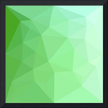 Dark Sea Green Abstract Low Polygon Background