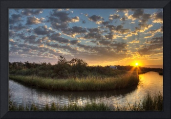 Bend in the Bayou Sunrise
