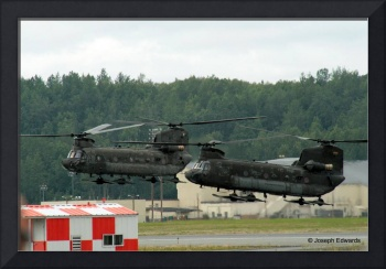 CH-47 Chinooks Coming in to Land