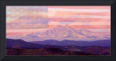 Twin Peaks - Longs Peak and Mt. Meeker Panorama -