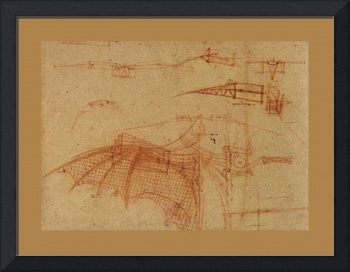Design For A Flying Machine 1  1500 AD  Large Bord