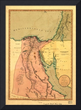 Map of Egypt with part of Arabia and Palestine (c