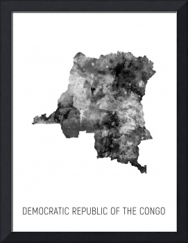 Democratic Republic of the Congo Watercolor Map