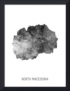 North Macedonia Watercolor Map
