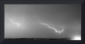 Lightning Bolts Coming In For A Landing Panorama B