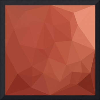 Burnt Sienna Orange Abstract Low Polygon Backgroun