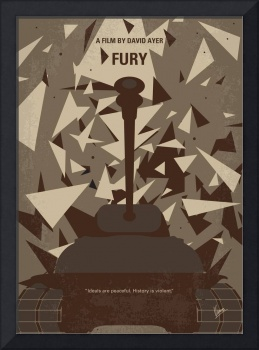 No885 My Fury minimal movie poster