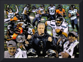 Seattle Seahawks NFL Fooball Super Bowl Champions