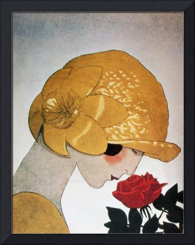 LADY WITH RED ROSE / Art Deco Beauty Fashion