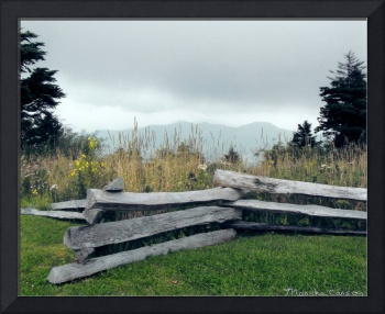 Split-Rail Fence on the Blue Ridge Parkway, NC