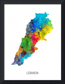 Lebanon Watercolor Map