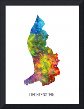Liechtenstein Watercolor Map