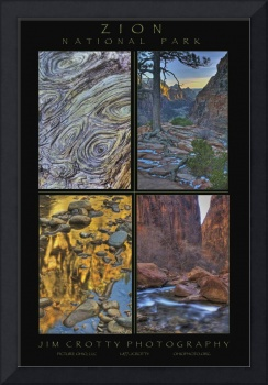 Zion National Park Poster Print by Jim Crotty