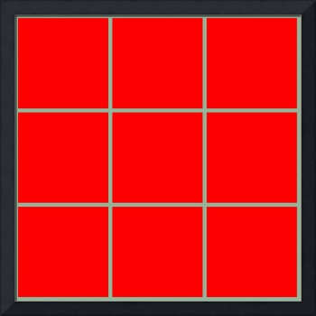 Red Window 124 Canvas Contemporary Modern