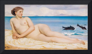 Actaea, the Nymph of the Shore by Leighton