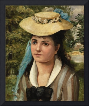 Lise in a Straw Hat (1866) by Pierre-Auguste Renoi