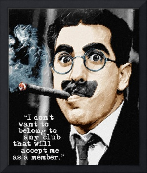 Groucho Marx And Quote Vertical