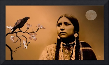 Lakota Woman and Raven