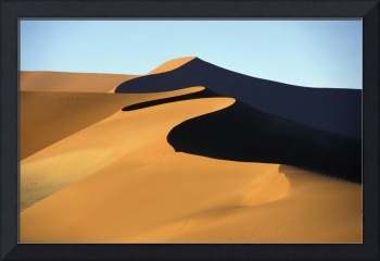 Sand Dune Against Clear Sky In Namib-Naukluft Nati