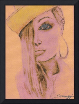 BLOND HAIR, YELLOW HAT AT SUNSET